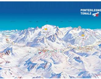 Mappa piste al Tonale