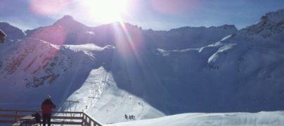 Veduta ghiacciaio Presena