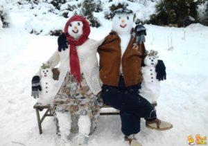 famiglia-di-pupazzi-di-neve